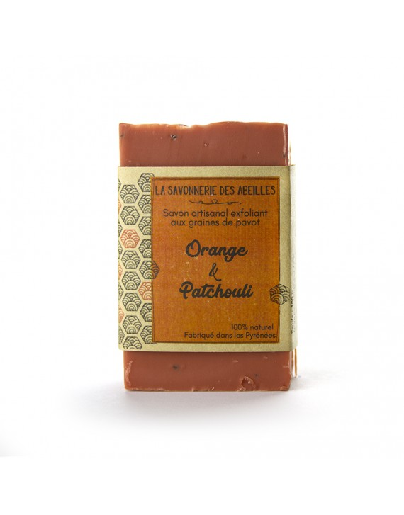 SAVON GRAINES DE PAVOT ORANGE ET PATCHOULI